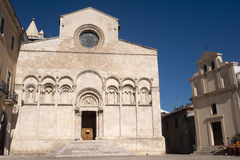 Termoli (Italy) - Cathedral facade Stock Photo