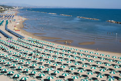 Termoli (Molise, Italië) - het strand bij ochtend Royalty-vrije Stock Afbeeldingen