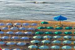 Termoli (Molise, Italy) - The beach at evening Stock Images
