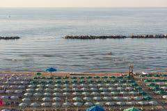 Termoli (Molise, Italy) - The beach at evening Royalty Free Stock Image