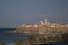 Termoli pueblo de playa de Molise, Campobasso Italia fotografía de archivo