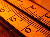 Termometer. An warm orange color. Natural light Royalty Free Stock Images