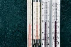Termometer för att mäta rumstemperaturen Royaltyfri Bild