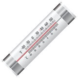 Termometer för kylskåp Royaltyfri Fotografi