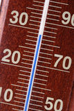 Termometer - närbild Arkivbild