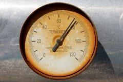 Termometersond/manometer Arkivfoton