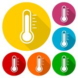 Termometr ikona Fotografia Stock