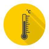 Termometr ikona Obrazy Stock