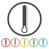 Termometr ikony zimno ilustracja wektor