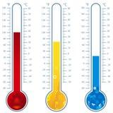 Termometri Fotografia Stock Libera da Diritti