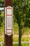 Termometro antiquato Fotografie Stock