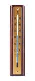 Termometro centigrado di legno isolato Fotografia Stock Libera da Diritti