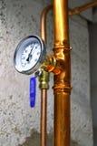 Termometro dell'acqua calda Immagini Stock Libere da Diritti