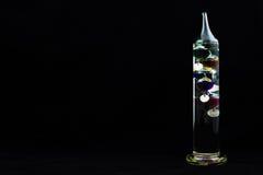 Termometro di Galileo fotografie stock libere da diritti
