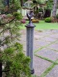 Termometro di temperatura del giardino immagine stock libera da diritti