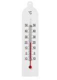 Termometro di vetro domestico semplice Immagini Stock