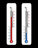 Termometro di vettore Immagini Stock Libere da Diritti