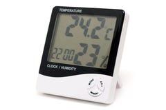 Termometro ed idrometro di Digitahi isolati. Fotografia Stock