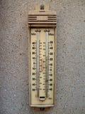 Termometro esterno Fotografia Stock