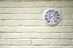 Termometro esterno Fotografia Stock Libera da Diritti