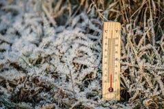 Termometro esterno Fotografie Stock Libere da Diritti