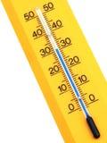 Termometro giallo Fotografie Stock Libere da Diritti
