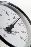 Termometro industriale Fotografie Stock