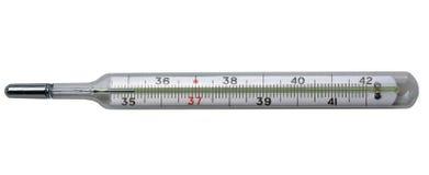 Termometro a mercurio medico fotografie stock