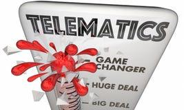 Termometro mobile 3d Illustr di tecnologia di connettività di telematica royalty illustrazione gratis