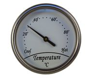 Termometro rotondo Fotografie Stock Libere da Diritti