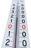 termometru odosobniony biel Fotografia Royalty Free