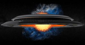 The Termonuclear UFO Royalty Free Stock Images