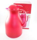 Termos e scatola rossi come presente Fotografia Stock