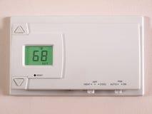 termostat för 68 f Arkivbilder
