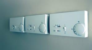 Termostato com ventilador e controle de temperatura Fotos de Stock