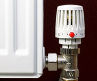 Termostato del radiatore Immagine Stock Libera da Diritti