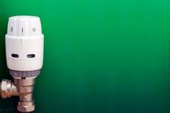 Termostato verde fotografia stock libera da diritti