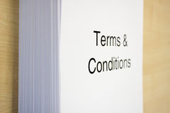 Terms & Conditions Stock Images