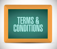Terms and conditions board sign illustration Royalty Free Stock Photo
