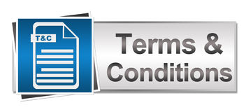Terms and Conditions Button Style Stock Image
