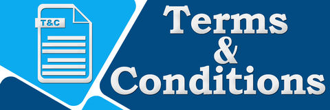 Terms And Conditions 929. Terms and Conditions concept banner image with text and tnc file icon Stock Image