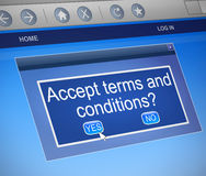 Terms and conditions concept. Royalty Free Stock Images