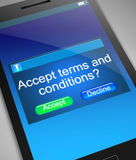 Terms and conditions concept. Royalty Free Stock Photo