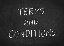Terms and conditions Royalty Free Stock Photography