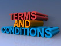 Terms and Conditions 3D Render Royalty Free Stock Photography