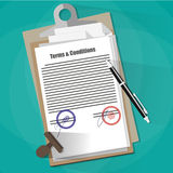 Terms and Conditions Legal Agreement. Stock Photo