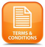 Terms and conditions (page icon) special orange square button. Terms and conditions (page icon) isolated on special orange square button abstract illustration vector illustration