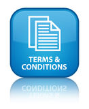Terms and conditions (pages icon) special cyan blue square butto Stock Photos