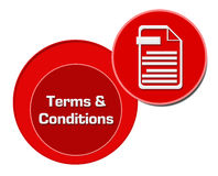 Terms And Conditions Red Circles Royalty Free Stock Photo