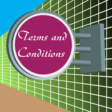 Terms and conditions signpost Royalty Free Stock Photos